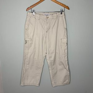 Columbia Authentic Issue Khaki Cargo Capris